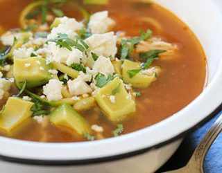 "Recipe: Chipotle Chicken Zucchini ""Fideo"" Soup"