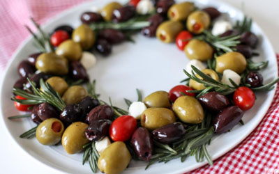 December Recipe: Olive Wreath Holiday Appetizer